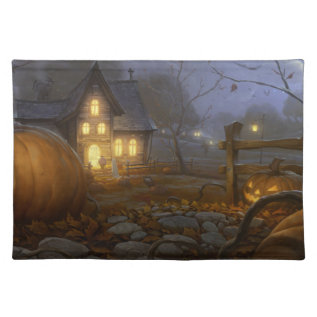 All Hallows Eve Fall Placemat at Zazzle