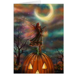 All Hallows' Eve Halloween Fairy Fantasy Art Card