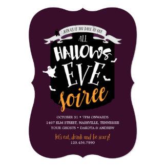 All Hallow's Eve Halloween Soirée Card