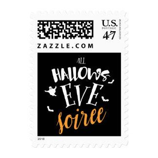 All Hallow's Eve Halloween Soirée Postage Stamp