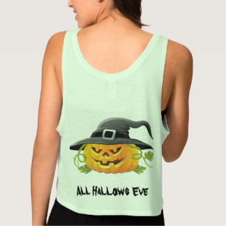 All Hallows Eve Party Flowy Crop Tank Top