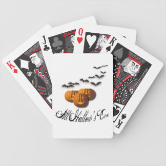 All Hallow's Eve-Pumpkins and Bats Bicycle Playing Cards