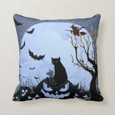 Halloween Themed All Hallows Eve Throw Pillow