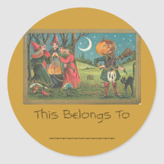 All Hallows greeting Classic Round Sticker