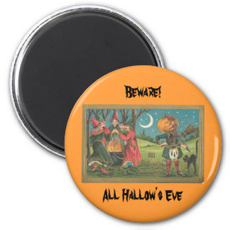 All Hallows greeting Magnet