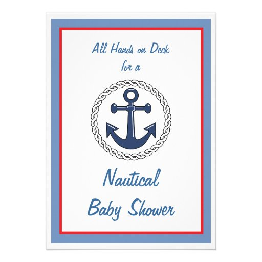 All Hands Nautical Baby Shower Invitations