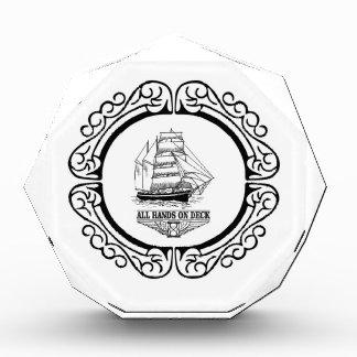 all hands on deck acrylic award