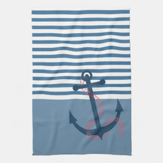 All Hands on Deck! Girly Retro Kitchen Towel