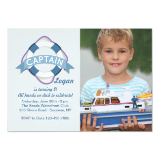 All Hands On Deck Photo Invitation