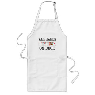 All Hands On Deck Playing Cards Long Apron