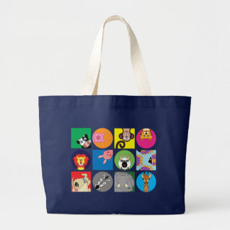 ALL HAPPY ANIMALS LARGE TOTE BAG