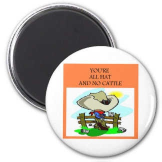 all hat no cattle fridge magnets