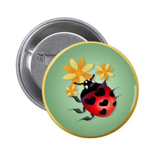 All Heart Ladybug  Buttons