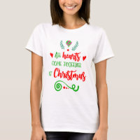 All Hearts Come Together At Christmas Women's T-Shirt