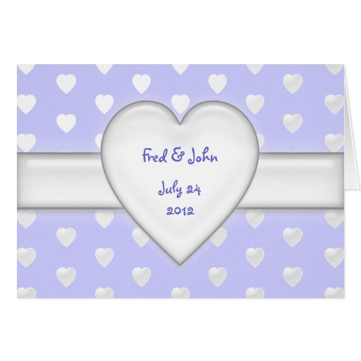 all hearts - save the date greeting card