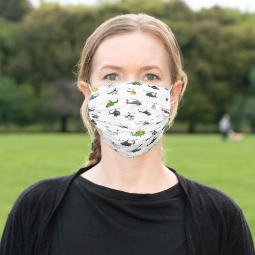 All Helicopters Cloth Face Mask