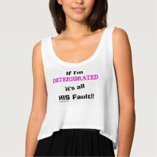 All His Fault Deteriorated Crop Tank Top
