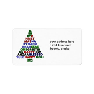 All Holiday Greetings Label