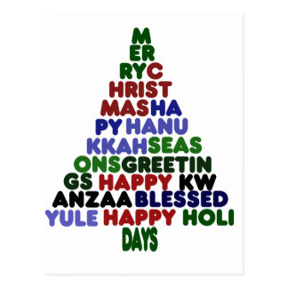 All Holiday Greetings Postcard