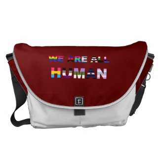 All Human Red Messenger Bag