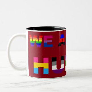 All Human Red Coffee Mugs