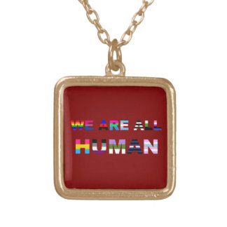 All Human Red Necklaces