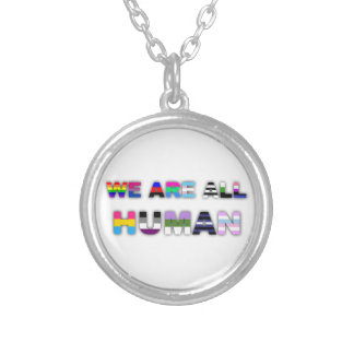 All Human White Necklaces