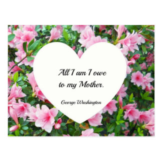 All I am I owe to my Mother. Postcard