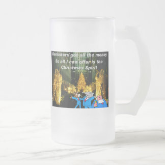 All I can offer 16 Oz Frosted Glass Beer Mug