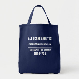 All I Care About Is Atv Racing On A Motocross Trac Tote Bag