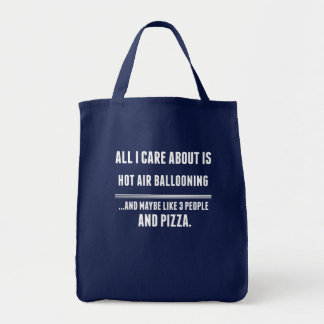 All I Care About Is Hot Air Ballooning Sports Tote Bag
