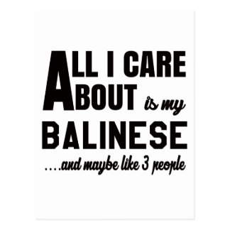 All i care about is my Balinese. Postcard