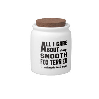 All i care about is my Smooth Fox Terrier. Candy Dish