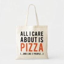 pizza, funny, humor, bag, bizarre, pepperoni, crazy, food, geometric, cool, stupid, dumb, internet meme, fun, memes, budget tote bag, Bag with custom graphic design