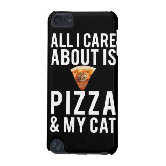 All i care about is pizza & my cat iPod touch 5G case