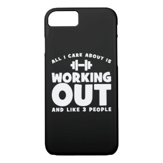 All I Care About Is Working Out - Novelty Fitness iPhone 8/7 Case