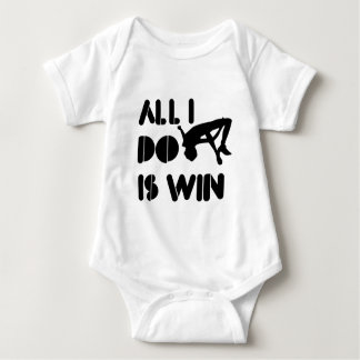 All I Do Is Win At High jump Baby Bodysuit