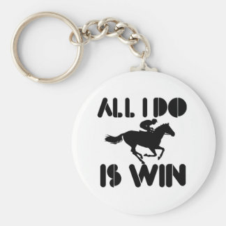 All I do is Win At Horseriding Keychains