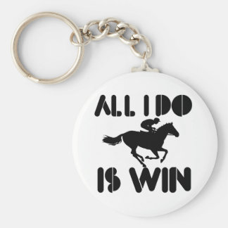 All I do is Win At Horseriding Key Chain