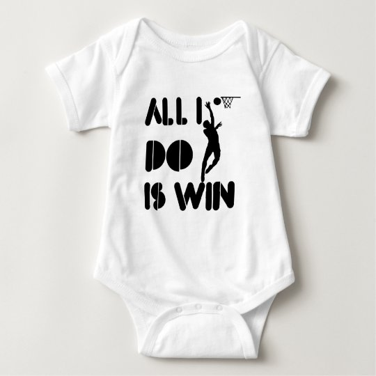 All I Do Is Win At Netball Baby Bodysuit