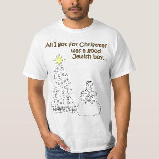All I got for Christmas was a good Jewish boy T-Shirt