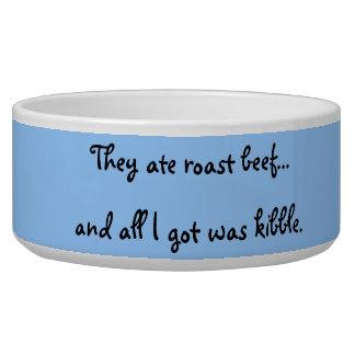 All I Got was Kibble Dog Bowl--Blue Background Bowl