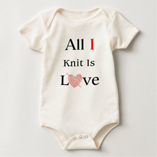 All I Knit Is Love Baby Bodysuit