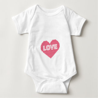 All I Knit Is Love Funny Knitting Gift Baby Bodysuit