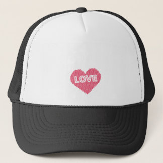 All I Knit Is Love Funny Knitting Gift Trucker Hat