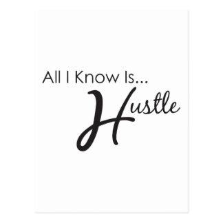 All I Know is Hustle Postcard