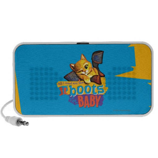 All I Need Are Boots Baby Portable Speaker