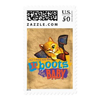 All I Need Are Boots Baby Postage by pussinboots at Zazzle