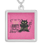 All I Need Are The Boots, Baby Square Pendant Necklace