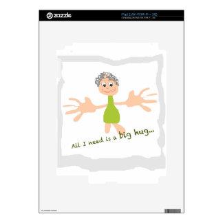 All I need is a big hug - Graphic and text iPad 2 Skins